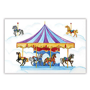 Carousel Music Box Top View | Beautiful childrens gifts and decor from Enchantmints