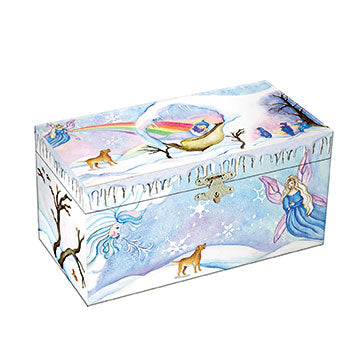 Winter Beauty Music Box closed | beautiful childrens gifts and decor from Enchantmints
