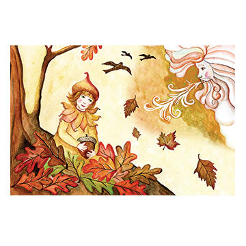 Falling Leaves Music Box Top View | Gorgeous childrens gifts and decor from Enchantmints