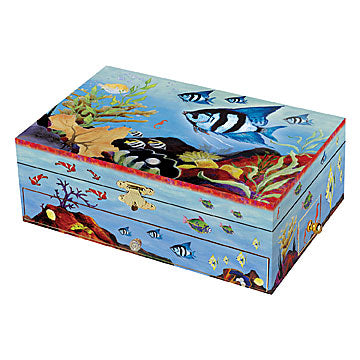Beneath The Waves Music Box closed | beautiful childrens gifts and decor from Enchantmints