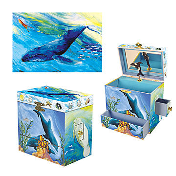 Ocean Friends Music Box Three-in-one View | Beautiful gifts and decor for children from Enchantmints