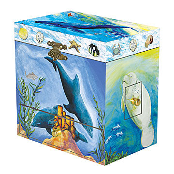 Ocean Friends Music Box closed | beautiful childrens gifts and decor from Enchantmints