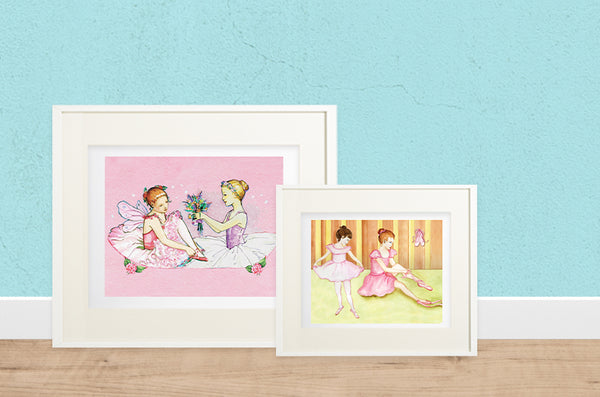 Printable ballerina artwork | beautiful childrens gifts and decor from Enchantmints