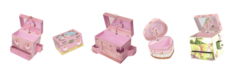 ballet and ballerina musical treasure boxes for sale from Enchantmints