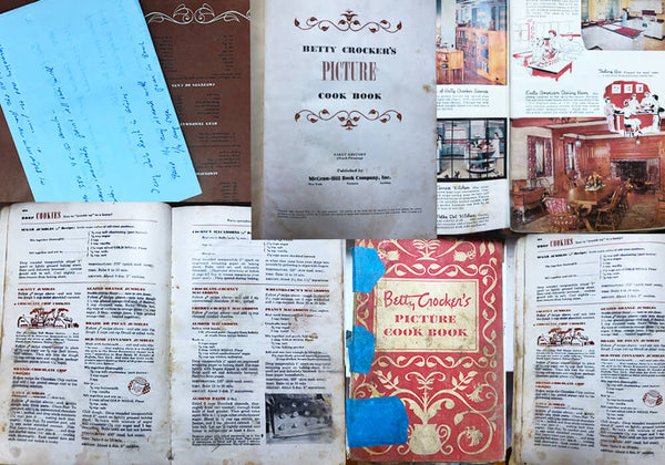 well used 1950s betty crocker cookbook