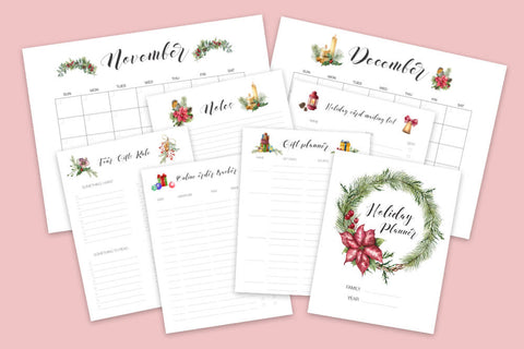 Printable Holiday Gift Planner Bundle from Enchantmints