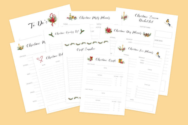 christmas holiday planning bundle from enchantmints