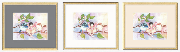 Pick a color for matting of art | Framebridge for online framing of childrens wall art from Enchantmints