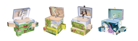 horse and unicorn and farm music boxes | The equine treasure box collection from Enchantmints