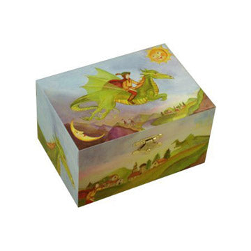 Friendly Dragon small Music Box closed | beautiful childrens gifts and decor from Enchantmints