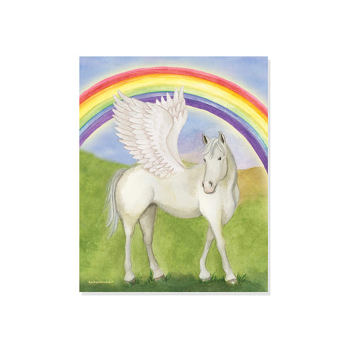 pegasus rainbow printable wall art from enchantmints