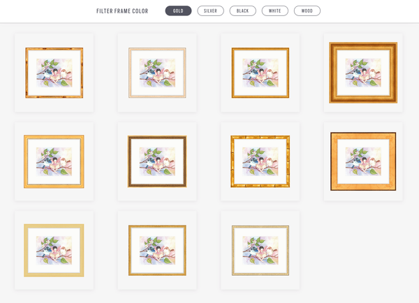 Select among options in frame category | Framebridge for online framing of childrens wall art from Enchantmints