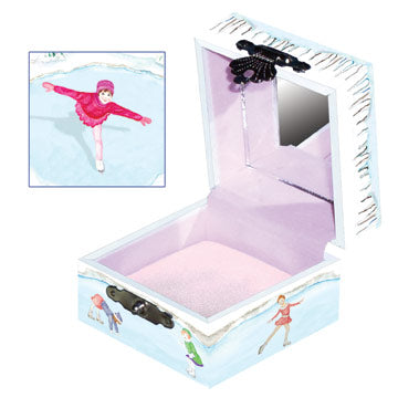 Skating Dreams Tiny Treasure Box Open View | Beautiful childrens gifts and decor by Enchantmints