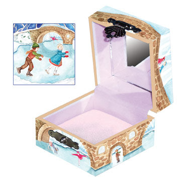 Dream Skater Tiny Treasure Box Open View | Beautiful childrens gifts and decor by Enchantmints