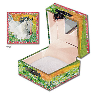 Hideaway Horse Tiny Treasure Box Open View | Beautiful childrens gifts and decor from Enchantmints