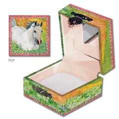 horse in meadow tiny treasure box for kids from enchantmints