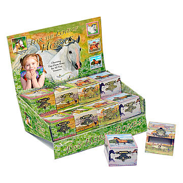 Horse Tiny Treasure Boxes Display Box | Beautiful childrens gifts and decor from Enchantmints