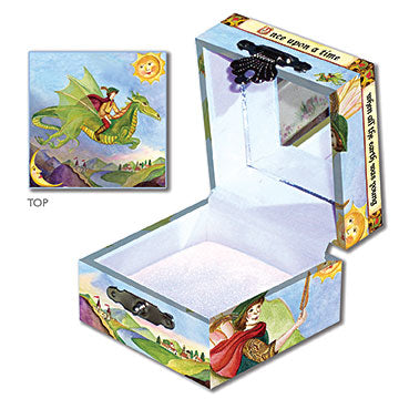 Dragon's World Tiny Treasure Box Open View | Beautiful childrens gifts and decor by Enchantmints
