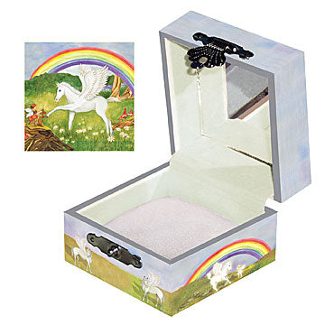 Pegasus Tiny Treasure Box Open View | Beautiful childrens gifts and decor from Enchantmints