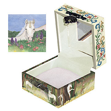 Unicorn Tiny Treasure Box Open View | Beautiful childrens gifts and decor from Enchantmints