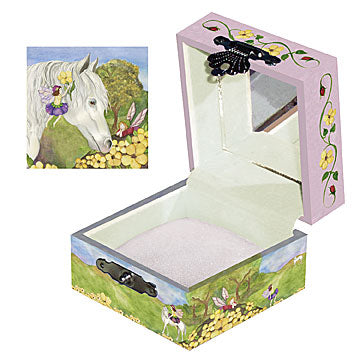 Horse Fairy Tiny Treasure Box Open View | Beautiful childrens gifts and decor from Enchantmints