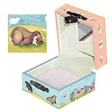 Sleeping Bunny Tiny Treasure Box Open View | Beautiful childrens gifts and decor from Enchantmints