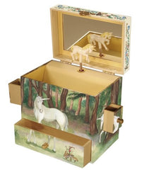 unicorn music box on sale from enchantmints with tune and figurine