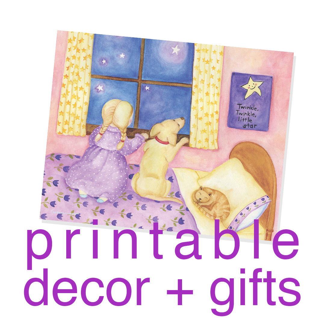 Printable Wall Art Store | Beautiful childrens gifts and decor from Enchantmints
