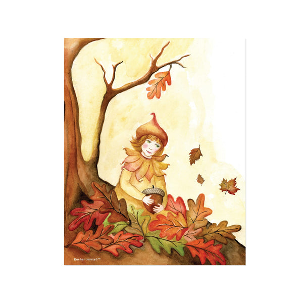 autumn leaves printable wall art from Enchantmints