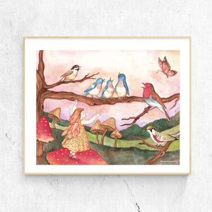 avian choir printable wall art framed from Enchantmints
