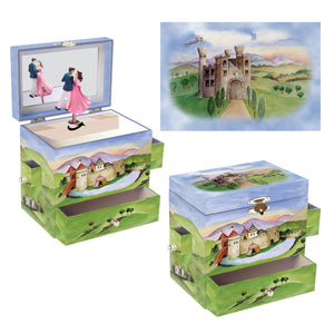 Prince and Princess music box 3-in-1 view | Musical treasure boxes and decor for kids from Enchantmints | unusual gifts for kids