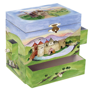 Prince and Princess music box closed view | Musical treasure boxes and decor for kids from Enchantmints | unusual gifts for kids