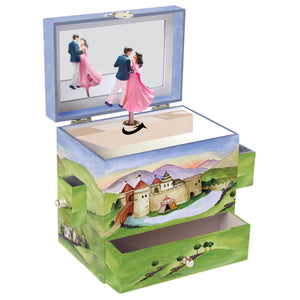 Prince and Princess music box open view | Musical treasure boxes and decor for kids from Enchantmints | unusual gifts for kids