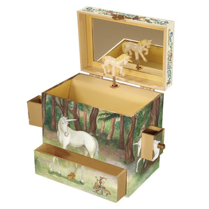 Unicorn music box open view | Musical treasure boxes and decor for kids from Enchantmints | unusual gifts for unicorn lovers