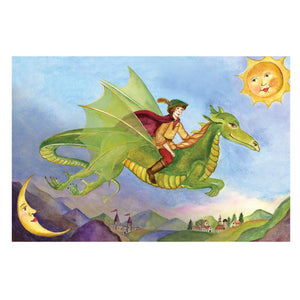 Dragon's World music box top view | Musical treasure boxes and decor for kids from Enchantmints | unusual gifts for kids