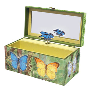 Butterfly music box open view | Musical treasure boxes and decor for kids from Enchantmints | unusual gifts for girls