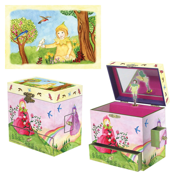 Spring Burst music box 3-in-1 view | Musical treasure boxes and decor for kids from Enchantmints | unusual gifts for kids