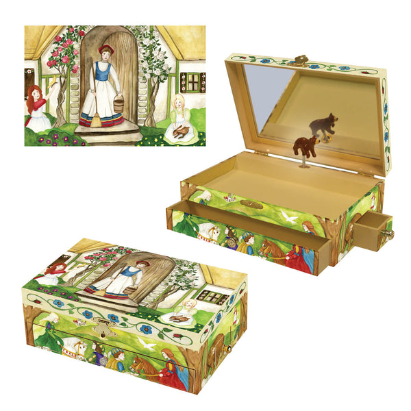 Rose cottage fairytale music box from enchantmints three in one view | fairytale waldorf gifts for kids