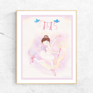 ballet wand printable wall art framed from Enchantmints