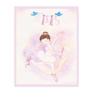 ballet wand printable wall art from Enchantmints