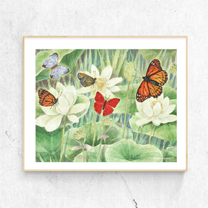 butterfly delight printable wall art framed from Enchantmints