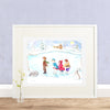 Ice Skaters Printable Wall Art