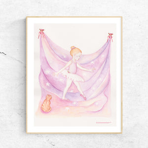 little ballerina printable wall art framed from Enchantmints