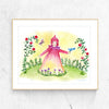 Little Girl Red Printable Wall Art