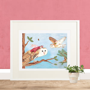 Owl Travellers Fairy Printable Wall Art