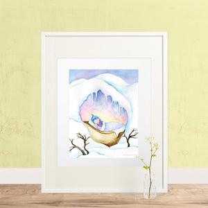 Winter Sleep Printable Wall Art