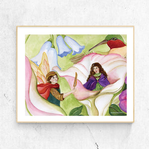 Thumbelina printable wall art in frame from Enchantmints