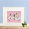 Two Ballerinas Printable Wall Art