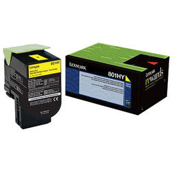 LEXMARK YELLOW TONER 801HY CX410/510 HY 3K (80C1HY0) - Budget Printing & Supplies