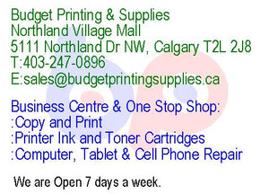 Copy and Print, Flyers, Brochures, Business Cards, Binding, Laminations - Budget Printing & Supplies